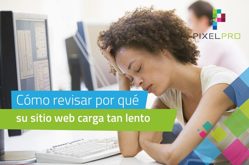 por que su sitio web carga muy lento PIXELPRO