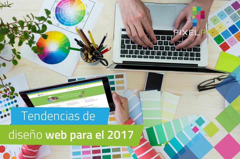 Tendencias de diseño web para el 2017