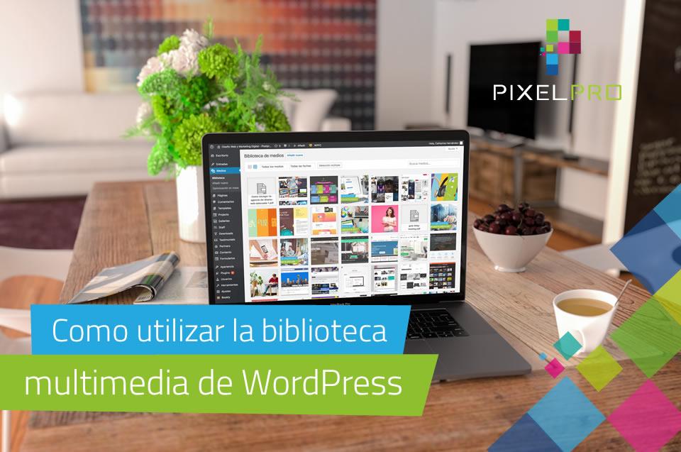 Como utilizar la biblioteca multimedia de WordPress