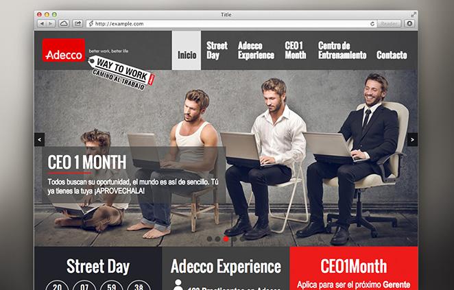 Diseño web Adecco
