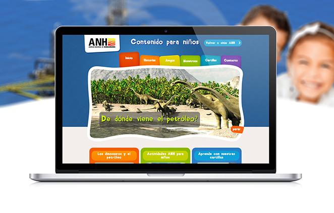 Diseño de sitio Web para ANH