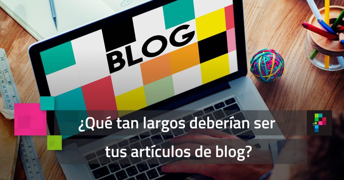 ¿Qué tan largos deberían ser los artículos de blog?